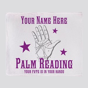 Palm Reading Throw Blanket