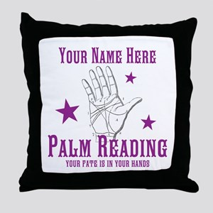 Palm Reading Throw Pillow