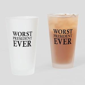 Worst President Ever Drinking Glass