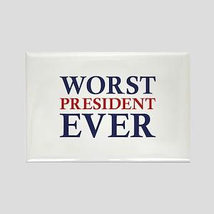 Worst President Ever Rectangle Magnet