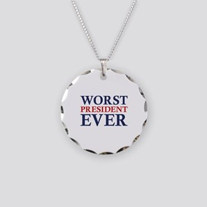 Worst President Ever Necklace Circle Charm