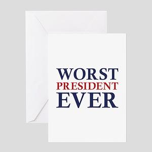 Worst president greeting cards cafepress worst president ever greeting card m4hsunfo