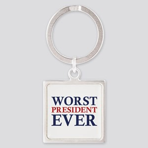 Worst President Ever Square Keychain