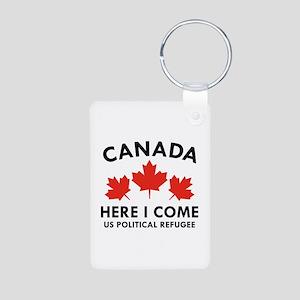 Canada Here I Come Aluminum Photo Keychain