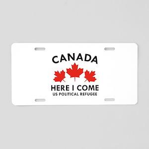 Canada Here I Come Aluminum License Plate