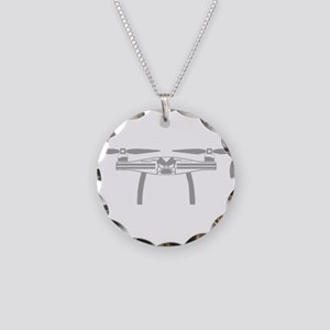 Grey Drone Necklace Circle Charm