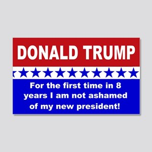 Donald Trump first time 20x12 Wall Decal