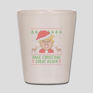Trump Make Christmas Great Again Shot Glass
