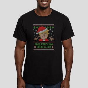 Trump Make Christmas G Men's Fitted T-Shirt (dark)