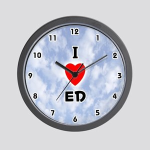 I Love Ed (Black) Valentine Wall Clock