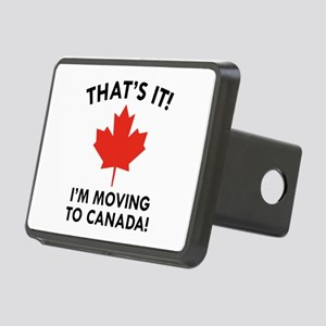 Move To Canada Rectangular Hitch Cover