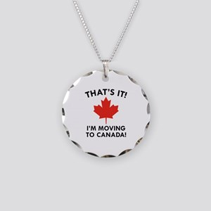 Move To Canada Necklace Circle Charm