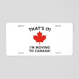 Move To Canada Aluminum License Plate