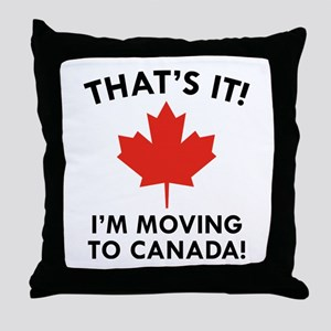 Move To Canada Throw Pillow