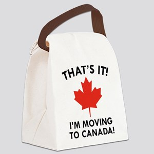 Move To Canada Canvas Lunch Bag