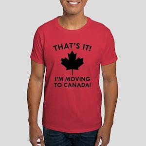 Move To Canada Dark T-Shirt