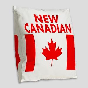 New Canadian Burlap Throw Pillow