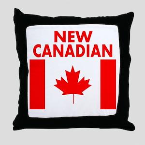 New Canadian Throw Pillow