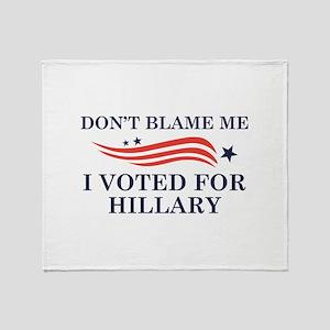 I Voted For Hillary Stadium Blanket