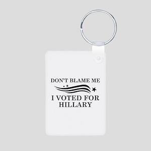 I Voted For Hillary Aluminum Photo Keychain