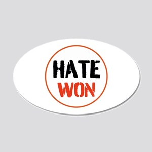 Hate won Wall Decal