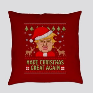 Trump Make Christmas Great Again Everyday Pillow