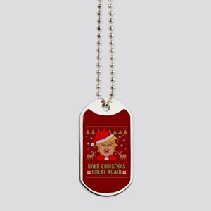 Trump Make Christmas Great Again Dog Tags