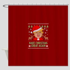 Trump Make Christmas Great Again Shower Curtain