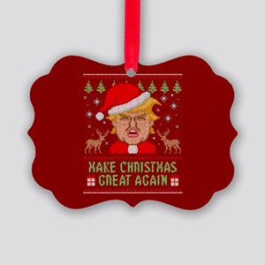 Trump Make Christmas Great Again Picture Ornament