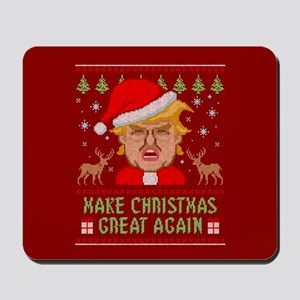 Trump Make Christmas Great Again Mousepad