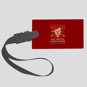 Trump Make Christmas Great Again Large Luggage Tag