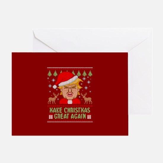 Trump Make Christmas Great Again Greeting Card