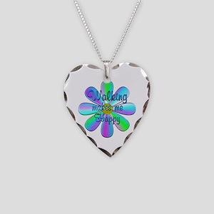 Walking Happy Necklace Heart Charm