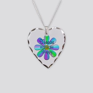 Theatre Happy Necklace Heart Charm