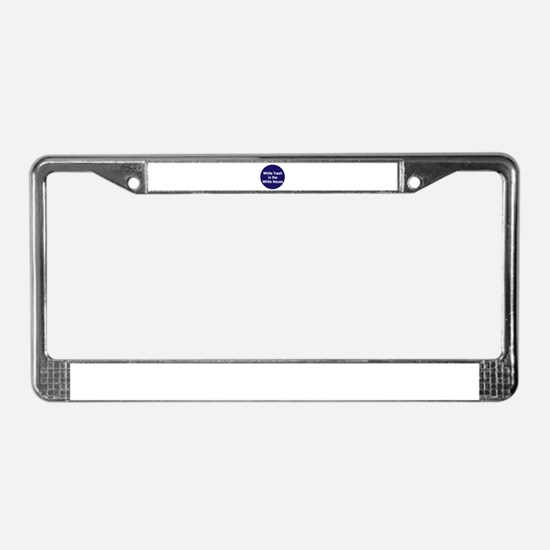 White trash in the White House License Plate Frame