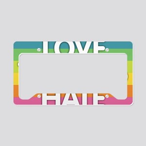 Love Trumps Hate License Plate Holder