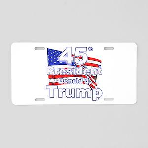 Trump 45 Aluminum License Plate