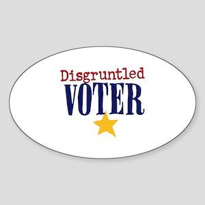 Disgruntled Voter Sticker