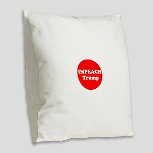 Impeach Trump Burlap Throw Pillow