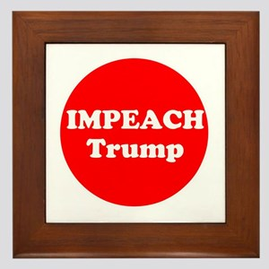 Impeach Trump Framed Tile