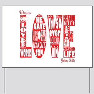 What Is Love Yard Sign