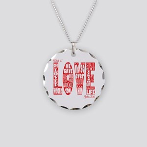 What Is Love Necklace Circle Charm