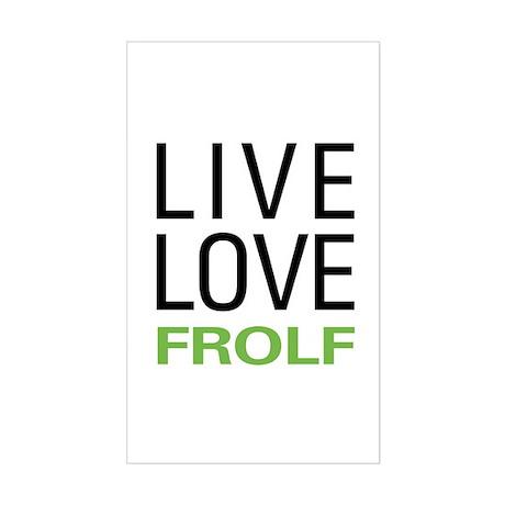 Live Love Frolf Sticker (Rectangle)