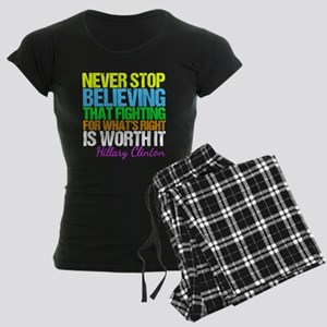 Hillary Motivational Fight Women's Dark Pajamas