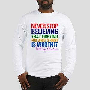 Hillary Motivational Fight Long Sleeve T-Shirt