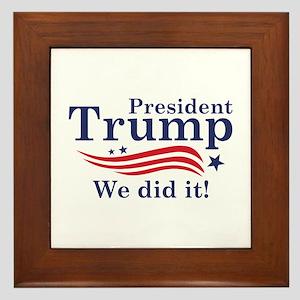 We Did It! Framed Tile