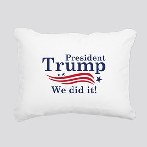 We Did It! Rectangular Canvas Pillow