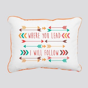 Where You Lead Rectangular Canvas Pillow