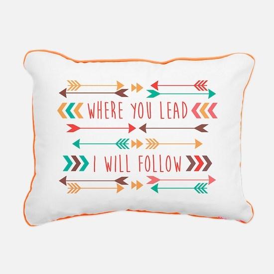Where You Lead Rectangular Canvas Pillow
