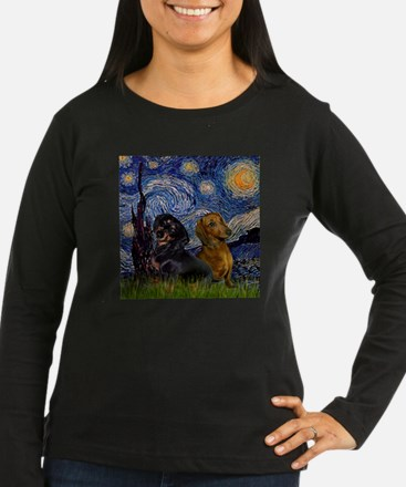 TILE-Starry-DachsPair.PNG Long Sleeve T-Shirt